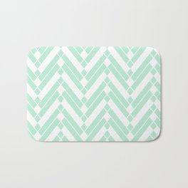 Chevron Herringbone ZigZag pattern - light mint green #Society6 Bath Mat