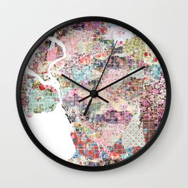 Buffalo map New York Wall Clock