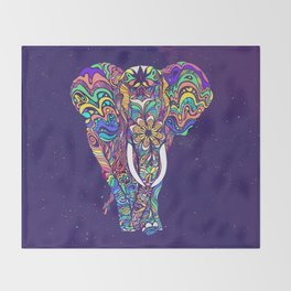 Not a circus elephant Throw Blanket