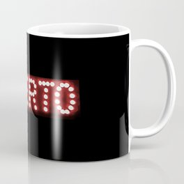 Spanish Open Text Neon Style Coffee Mug