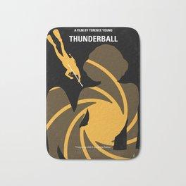 No277-007 My Thunderball minimal movie poster Bath Mat