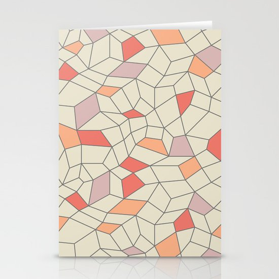 mod colorblock mesh Stationery Cards