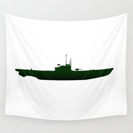 Submarine Silhouette Wall Tapestry