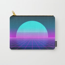 80's Retro Neon Grid Carry-All Pouch