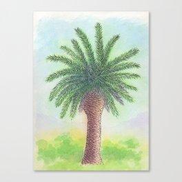Palm tree on Zante Canvas Print