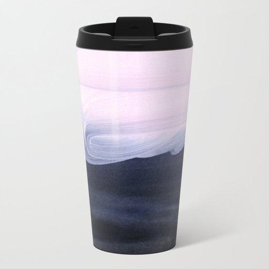 pink & blue Metal Travel Mug