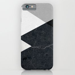 Geometrics - marble & silver iPhone Case
