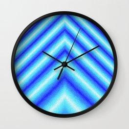 Blue Sabers Wall Clock