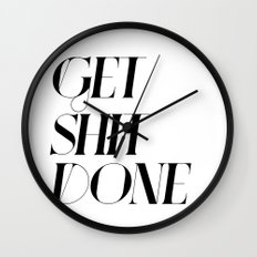 GET SHIT DONE! Wall Clock