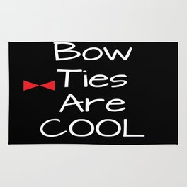 Doctor Who Bow Ties Are Cool red Rug
