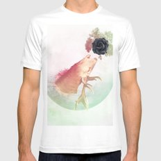 Deer Howling for NATURE!  SMALL White Mens Fitted Tee