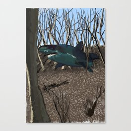 What If I had a Shark Canvas Print