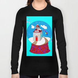 A Winter Wonderland Snow Globe School House Long Sleeve T-shirt