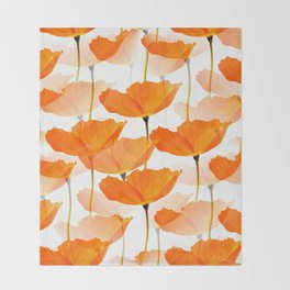 Orange Poppies On A White Background #decor #society6 #buyart Decke