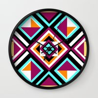 quilt Wall Clocks featuring Quilt Pattern by k_c_s