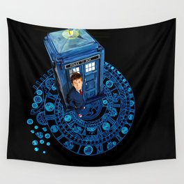 10th Doctor at arch of time zone T-Shirt Wall Tapestry