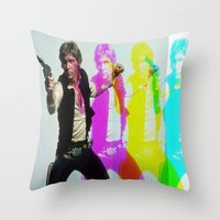 han solo Throw Pillows featuring Han Solo by Iotara