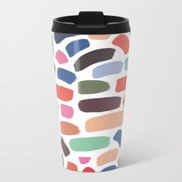 Brush strokes pattern #7 Metal Travel Mug