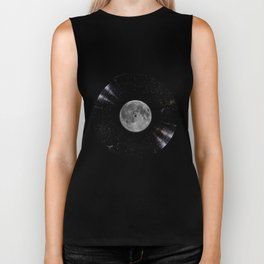 Awesome Moon and Stars Vinyl Biker Tank