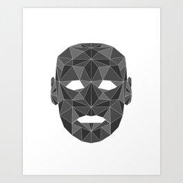 lowpolycyberhuman Art Print