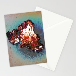Crystalline Oil Slick  Stationery Cards