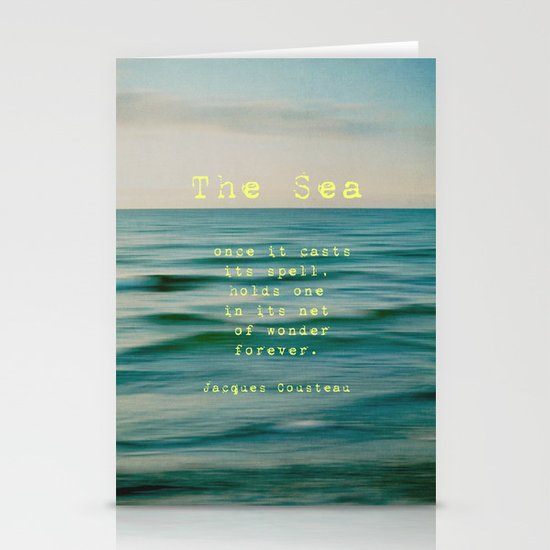 The Sea - typo Stationery Cards