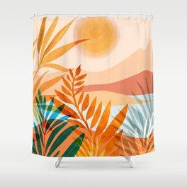Golden Greek Garden Shower Curtain