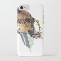 climbing iPhone & iPod Cases featuring Climbing by Lerson