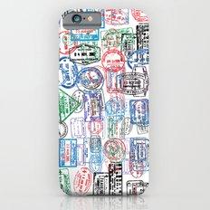 Passport Stamps Slim Case iPhone 6s
