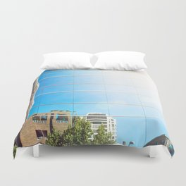 on reflection: bright. Duvet Cover