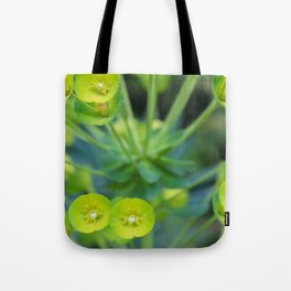 Little Green Flowers Tote Bag