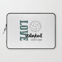 Love Volleyball Street Style Laptop Sleeve