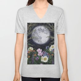 Midnight in the Garden II Unisex V-Neck