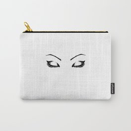 Eyebrows On Fleek,Makeup print,Eye lashes Print,Makeup Decor,fashion Poster,Fashion Art,Fashion wall Carry-All Pouch