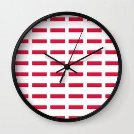 Flag of poland – poland,Polish,Polska,pole,Warsaw,krakow Wall Clock