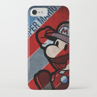 super mario iPhone & iPod Cases featuring SUPER MARIO by sbs' things