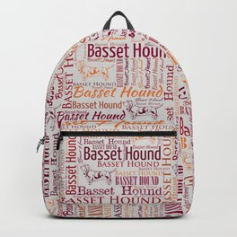 Basset Hound  Word Art pattern Backpack