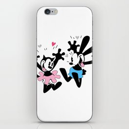 Oswald and Ortensia (technicolor) iPhone Skin