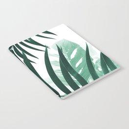 Palm & Monstera Leaves Mix #2 #foliage #decor #art #society6 Notebook