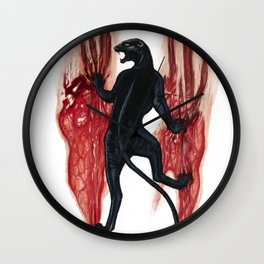 BLACK PANTHER SCRATCH Wall Clock
