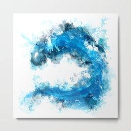 WATER DRAGON ABSTRACT Metal Print