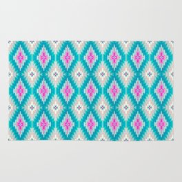 Kilim pink and teal, tiffany blue and pink Rug