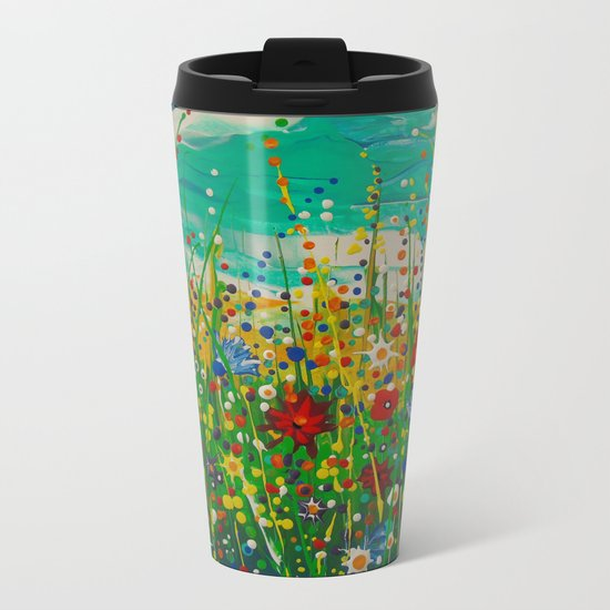 Flowers of happiness Metal Travel Mug