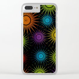 Colorful Christmas snowflakes pattern- holiday season gifts Clear iPhone Case