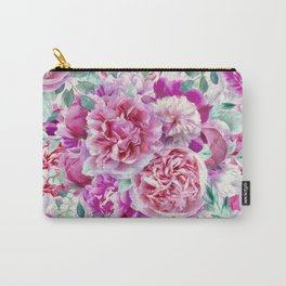Beautiful soft pink peonies II Carry-All Pouch