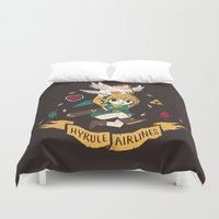hyrule Duvet Covers featuring hyrule airlines brown by Louis Roskosch
