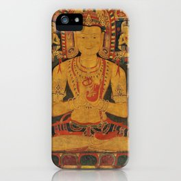 Tantric Buddha - Vintage Indian Art Print iPhone Case