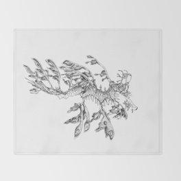 Leafy Sea Dragon Throw Blanket