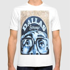 Dallas Strong SMALL Mens Fitted Tee White