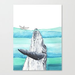 In the middle of the ocean Canvas Print